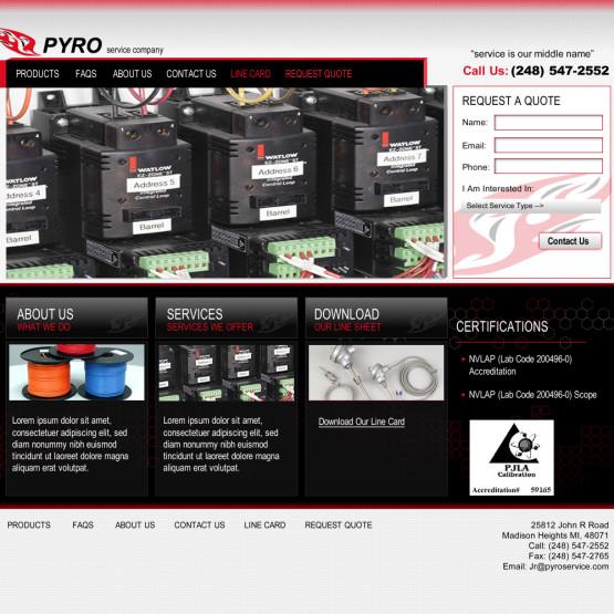 Pyro Service Home